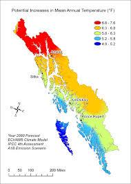 Southeast Alaska Chart Climate Change Could Affect Southeast Salmon Habitat
