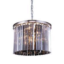 brushed nickel black shade 22 wide crystal chandelier regina brushed nickel crystal chandelier sydney 6 light polished nickel chandelier with silver shade