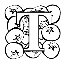 Small Picture Letter T Tomato coloring page