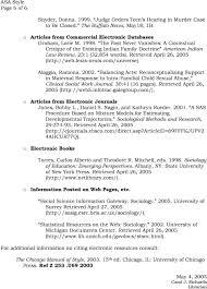 Asa Style E H Butler Library American Sociological Association