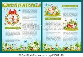 easter egg hunt template easter egg hunt celebration brochure template