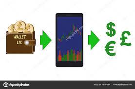 Online Exchange Of Litecoin Coins To Currencies Stock