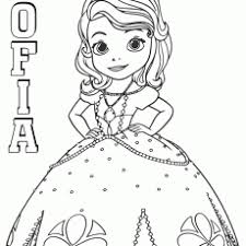 Classy Sophia The First Coloring Pages Printable Sofia Page Amber