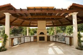 spacious outdoor kitchen with gazebo 50 outdoor kitchen