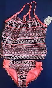 Malibu Dream Girl Swimwear Size Chart 2pieces Girl Swimwear Tankini Set Halter Bikini Swimsuit