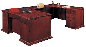 Handsome Wood Veneer Del Mar Series Executive U Station