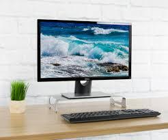 vivo silver aluminum 16 wide monitor riser ergonomic desktop stand modern tabletop organizer stand