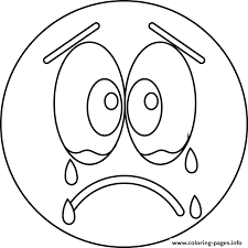 Small Picture Print sad cry emoji coloring pages TFN Pinterest Sad