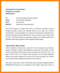 6 7 Format For A Memo Resume