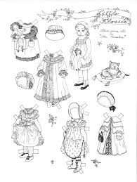 Small Picture Paper Dolls in black white to color cut Marges8s Blog Page 2