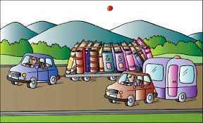 cartoon car and books um by alexei talimonov ged book fair