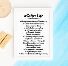 Hashtag Coffee Life Print Quotes About Coffee