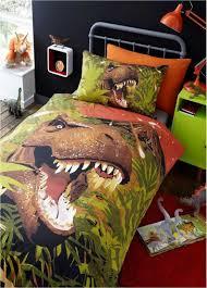 dinosaur t rex duvet cover set single double available