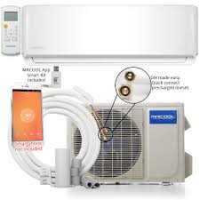 mrcool diy 18 000 btu 1 5 ton ductless mini split air conditioner and heat pump 230