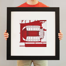 Donald W Reynolds Razorback Stadium Map Art