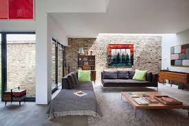 interior design modern living room with low cost furniture and