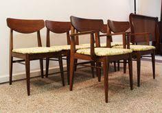 set of 6 mid century danish modern h paul by annexmarketplace danish moderndining chairsdining tablemid