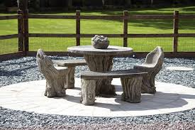 woodlands stone benches table patio