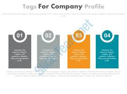 powerpoint company presentation powerpoint company profile four staged tags for company profile