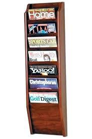 wall hanging magazine rack. Beautiful Hanging Magazine Holder For Wall Rack Mounted 7  Pocket Mount On Hanging S