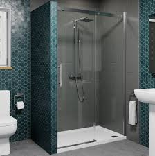 1000mm sliding shower enclosure door 8mm safety glass screen panel frameless