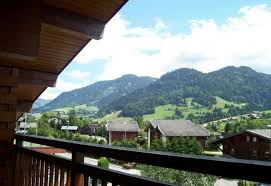 studio in praz sur arly with wonderful mountain view and enclosed garden