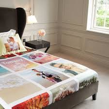 personalised bed sheets with quilt and pillows design your own bedding for unique style photo collage printed bed sheets