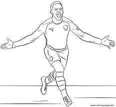 Alexis Sanchez Soccer Coloring Pages Printable