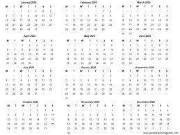 Template For 2020 Calendar Free 2020 Printable Calendar Template