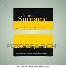 Modern Simple Business Card Template With Big Name Clipart