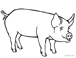 Pig Pictures To Color Free Printable Pig Coloring Pages For Kids