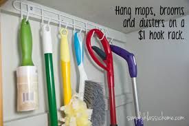 Command Strip Coat Rack Use Command Hooks To Hang Your Swiffer Mop Genius I Could Do This 69