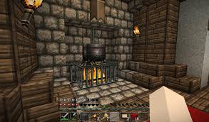 Minecraft Kitchen Xbox Fireplace With Cooking Pot Cooking Fireplaces And Minecraft