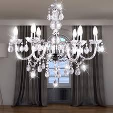 Kronleuchter Luster Lampe Wohnzimmer Beleuchtung Chrom Acryldekor Klar Globo 63116 6 Cuimbra I