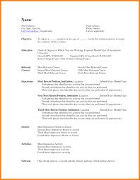 10 Basic Resume Template Word Letter Adress