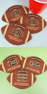 ducky days personalized football shaped cork coasters 4 designs personalized gifts and party favors