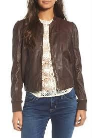 image of hinge shrunken leather er jacket