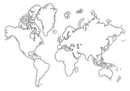 Simple World Map Coloring Page With Printable Architecture Modern