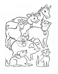 Farm Coloring Sheets With Childrens Pages Animals Also Farming