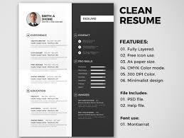 Clean Resume 2 Resume Templates Creative Market