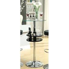 glass top bar table coaster furniture black bar table with tempered glass top and storage ikea