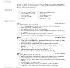 Nanny Resume Objective Sample Nanny Resume Template Download