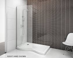 curved walk in shower enclosure for recess 1500 walk in shower enclosures splashdirect