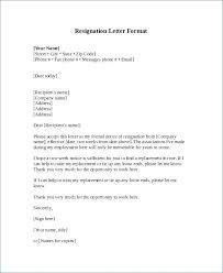 Standard Letter Standard Letter Format Block Style Bunch Ideas Resignation Letter
