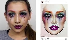 Colorful Face Chart Recreation Monika Zamudio