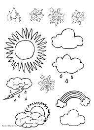 Small Picture Rachel Maybeth Free Weather Clipart Coloring pages Rachel
