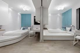normal kids bedroom. They Could Be Enclosed Just As A Normal Room, But When Slide The Door To One Side, Share Very Spacious Playing Space. Kids Bedroom -