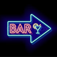 neon word signs. Exellent Neon Retro Neon Sign With The Word Bar Vintage Electric Arrow Symbol Burning A  Pointer To Black Wall In Club Bar Or Cafe Design Element For Your Ad  For Neon Word Signs G