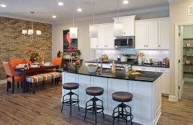 contemporary kitchen with white cabinets light gray painted walls and black granite