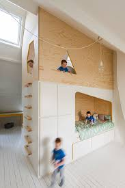 Bespoke Brilliance Twin Bed Wall in Kids Room with Loft Play Zone